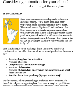 animation-storyboard